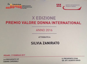 Zafferano Montefeltro premio valore donna international